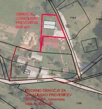 Javna razgrnitev pobude in elaborata lokacijske preveritve za določanje obsega stavbnega zemljišča