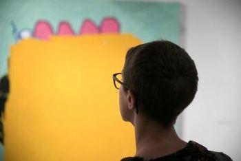 Vodstvo po razstavi in pogovor z umetnikom Arjanom Preglom