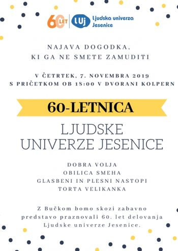 60-letnica Ljudske univerze Jesenice
