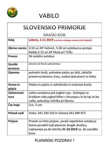 Planinci vabijo na slovensko Primorje