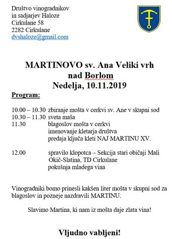 MARTINOVO 2019