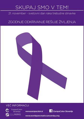 21. november – svetovni dan raka trebušne slinavke