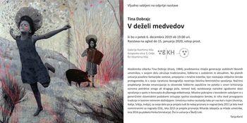 """Odprtje razstave """"V deželi medvedov"""" akademske slikarke Tine Dobrajc"""