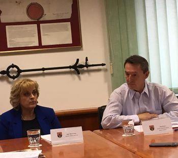 Novinarska konferenca po prvem letu županovanja
