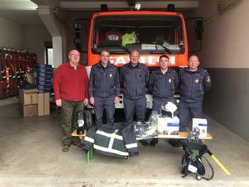 Prevzem gasilske opreme za leto 2019