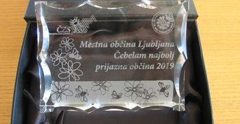 Ljubljana - čebelam najbolj prijazna občina v letu 2019