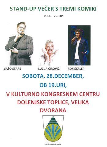 STAND - UP VEČER S TREMI KOMIKI