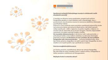 Sodelujte pri zbiranju fotografij iz različnih obdobij vašega življenja na Dolenjskem
