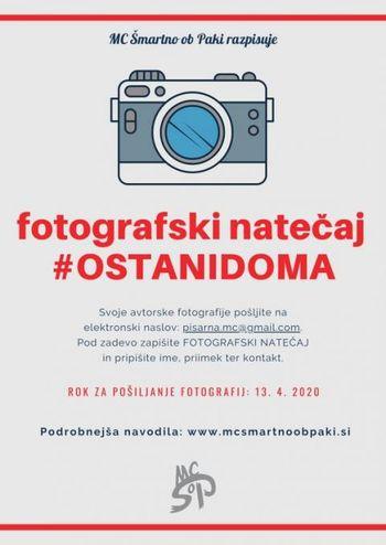 FOTOGRAFSKI NATEČAJ #OSTANI DOMA IN LITERARNI NATEČAJ ŽIVLJENJE PO KARANTENI