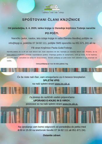 Obvestilo knjižnice