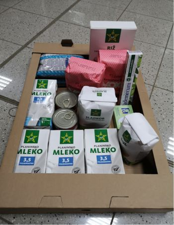 Paketi pomoči za socialno ogrožene občane