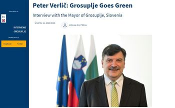 "Župan dr. Peter Verlič: ""Grosuplje goes green"""
