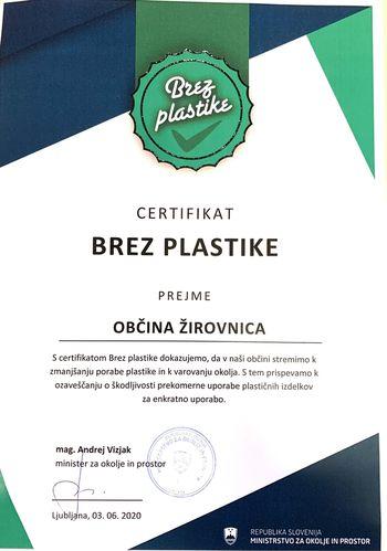 Spodbujanje zmanjševanja uporabe plastičnega pribora v slovenskih občinah- tudi Žirovnica