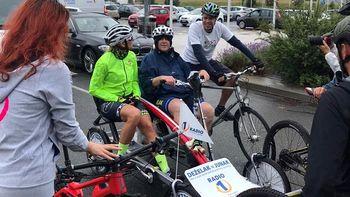 Novomeški župan za dober namen kolesaril po Novem mestu