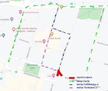 Prenavljamo za vas: zapora na križišču Komenskega in Tavčarjeve ulice