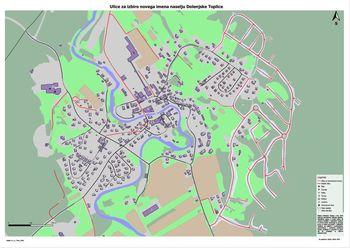 Zbiranje predlogov za poimenovanje novih ulic v Dolenjskih Toplicah