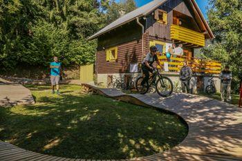 Promocijska dogodka v Gorsko kolesarskem učnem centru Pristava