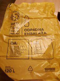 Nakup rumenih vreč za zbiranje odpadne embalaže