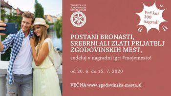 Združenje zgodovinskih mest Slovenije vabi k obisku zgodovinskih mest #mojemesto