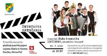 Z akustičnim koncertom Ansambla Saša Avsenika INTIMNO pričetek četrtkovih brenčanj v Mirni Peči