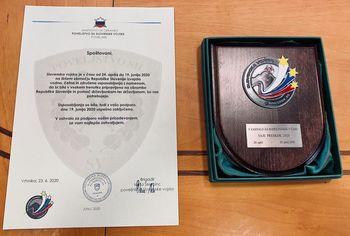 Zahvala Slovenske vojske Občini Ravne na Koroškem