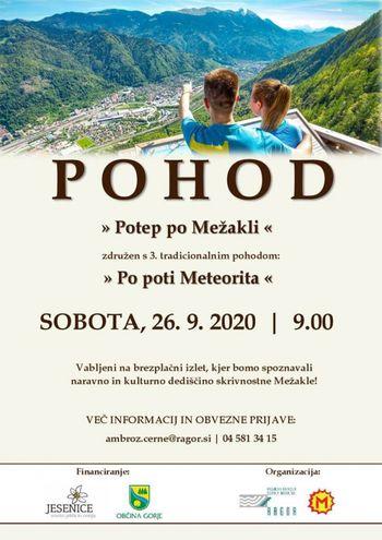 Promocijski pohod Potep po Mežakli - prijave obvezne!