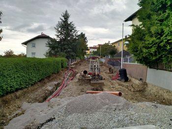 Gradbena dela v Prežihovi ulici v Lenartu