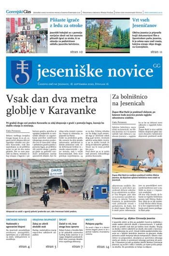 Jeseniške novice, 18. september 2020