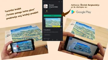 Nova mobilna aplikacija za virtualno raziskovanje Jesenic