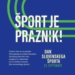Prvi dan slovenskega športa
