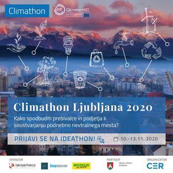Climathon Ljubljana 2020 – Bodi sprememba!