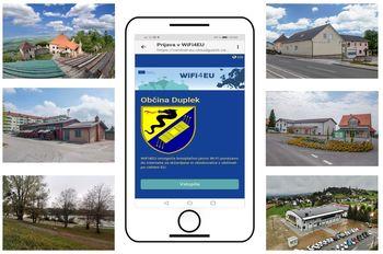 Vzpostavitev brezplačnega interneta na javnih mestih v Občini Duplek