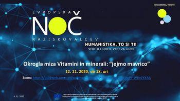 "Okrogla miza UL o vitaminih in mineralih: ""Jejmo mavrico!"""