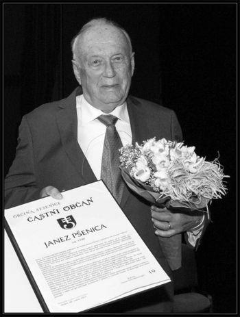 Poslovil se je častni občan Janez Pšenica