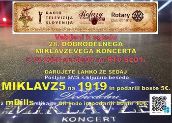 28. Miklavžev koncert na RTV Slovenija