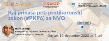 Brezplačni webinar: Kaj prinaša šesti protikoronski zakon (#PKP6)