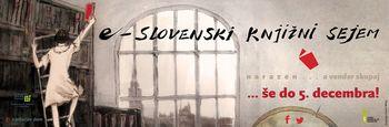 E-Slovenski knjižni sejem podaljšan do 5. decembra