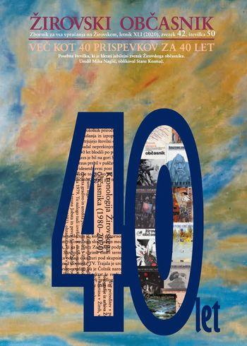 40 let Žirovskega občasnika: izid in spletna predstavitev jubilejnega zvezka