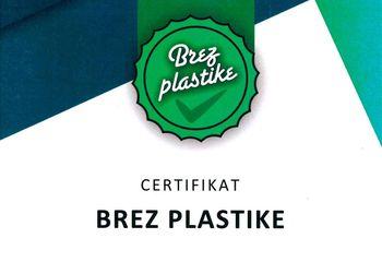 Občina Žiri prejela certifikat Brez plastike