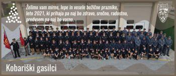 Voščilo kobariških gasilk in gasilcev