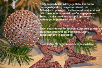 Vesel božič in srečno novo leto!