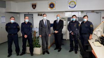 Župan Gregor Macedoni in državni sekretar dr. Olaj obiskala Policijsko postajo Novo mesto