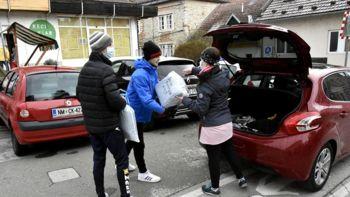 Akcija zbiranja pomoči prizadetim v potresu na Hrvaškem