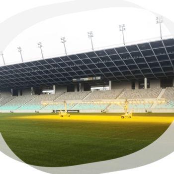 Mobilna ploščad z razsvetljavo na stadionu Stožice