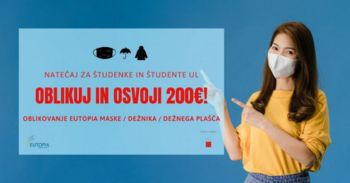 Študentski natečaj Univerze v Ljubljani: USTVARI POTISK ZA MASKO, DEŽNIK ALI DEŽNI PLAŠČ
