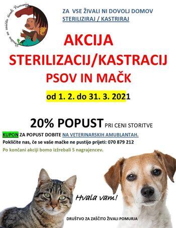 Akcija Društva za zaščito živali Pomurja