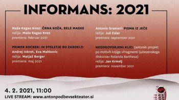 Anton Podbevšek Teater vstopa v februar z Informansom