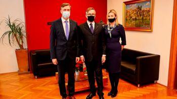Z veleposlanikom Poljske o nadaljevanju odličnega sodelovanja na področju kulture