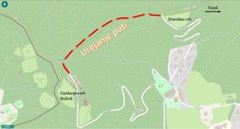 Obnova priljubljene poti med Cankarjevim in Drenikovim vrhom