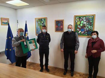 Bronasti znak civilne zaščite v roke Vladimirju Valentinčiču